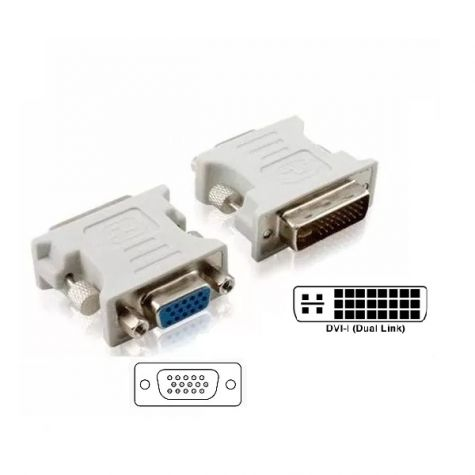 ADAPTADOR DVI-I MACHO (24.5) x VGA FEMEA