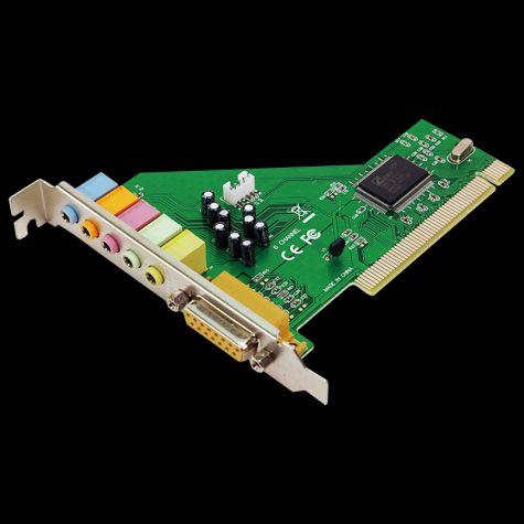 PLACA DE SOM PCI - 64 BITS - 5.1 CANAIS
