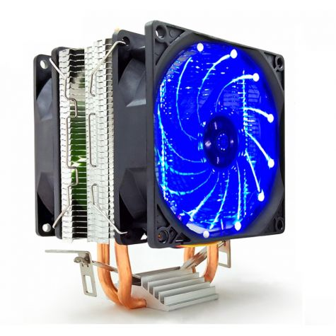 COOLER UNIVERSAL P/ PROCESSADOR INTEL/AMD DUPLO FAN C/ LED M200