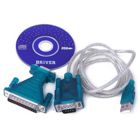 CABO CONVERSOR USB/SERIAL 80CM ( C/ ADAP. DB25 )