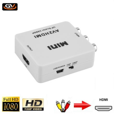 APARELHO CONVERSOR AV (RCA) X HDMI (MINI)