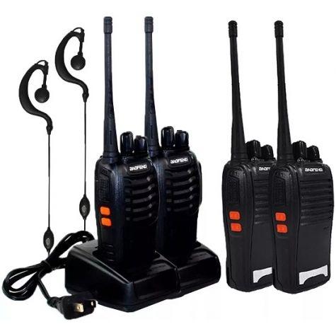 WALK TALK KIT RADIO COMUNICADOR BF-77Z 16 CANAIS / 12KM