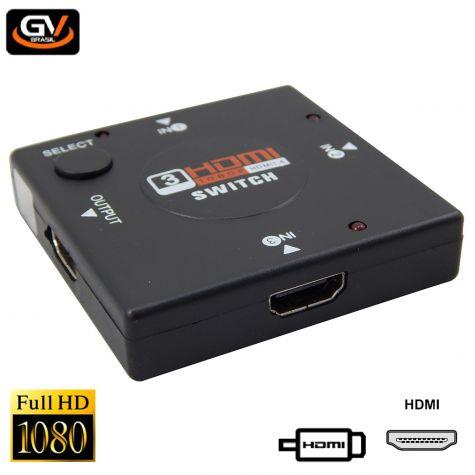 SWITCH HDMI 3-ENTRADAS X 1-SAIDA
