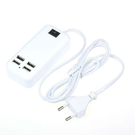 CARREGADOR USB 4 SAIDAS