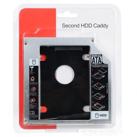 ADAPTADOR CADDY PARA SEGUNDO HD OU SSD 12.7MM