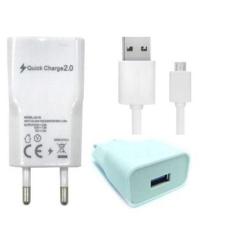 CARREGADOR COM CABO V8 MICRO USB 1,0MT