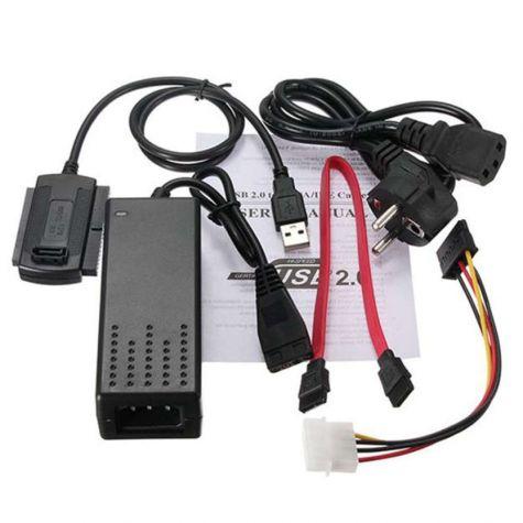 CONVERSOR USB x IDE / SATA COM FONTE