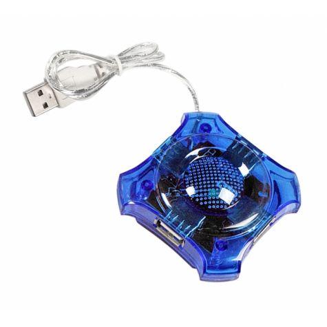 HUB USB 2.0 4 PORTAS AZUL