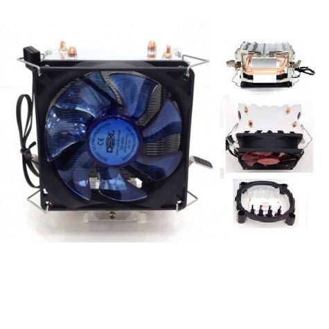 COOLER UNIVERSAL P/ INTEL / AMD COM LED AZUL DX-9000