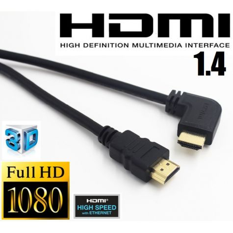 CABO HDMI-M / HDMI-M - VS 1.4 - 1,8 Metros 180/90º